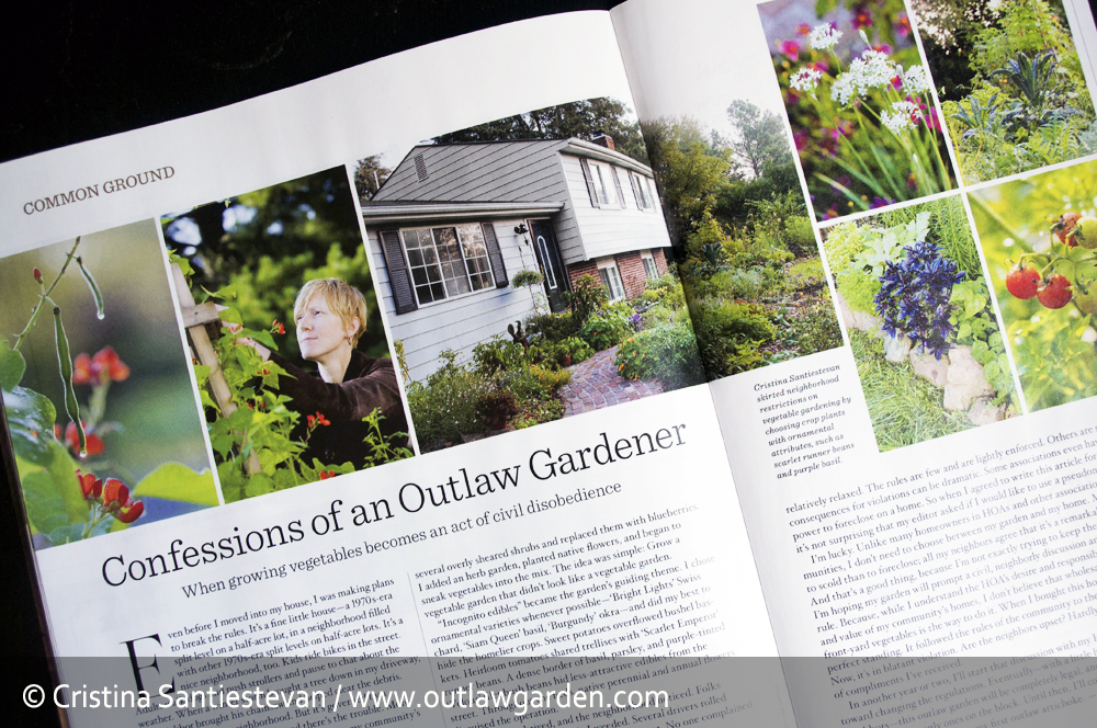 The Outlaw Garden is in Organic Gardening Magazine!!
