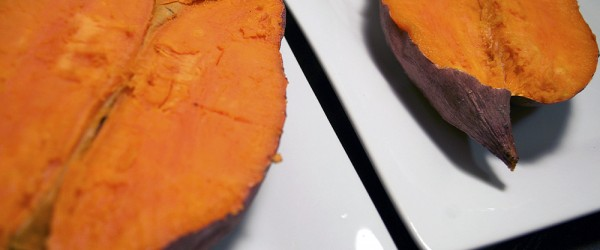 comparing home-grown and store-bought sweet potatoes for taste, color and texture